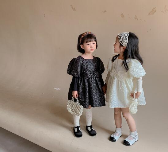子供服 ワンピース キッズ 子ども 秋 リボン シンプル かわいい おしゃれ 人気