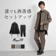 サイドレースルーズシャツ+センタープレスイージーテーパードスラックス(ssh5593a)/MinoriTY