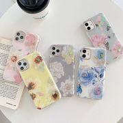 スマホケース iPhone13/13pro iPhone12/12pro対応 花柄 携帯ケース tpu 柔らか