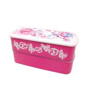ホラグチカヨデザイン スリムランチボックス ピンク 箱/ケース売 40入