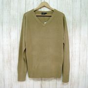 【メンズニット】カシミアタッチ Vネックセーター EUサイズ