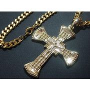 定番ネックレス・キリストクロス75ミリ・十字架