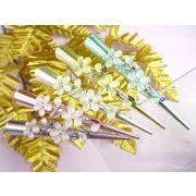 パステルカラー 丸めな5花弁フラワークリップ