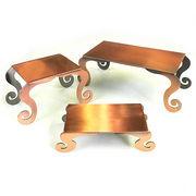 【SALE】 ≪便利な卓上ディスプレー≫ 【銅古美調】コッパー・テーブル型ディスプレー3個セット