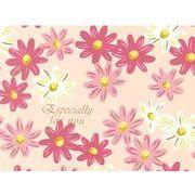 ギフト包装紙 フラワーベット ピンク