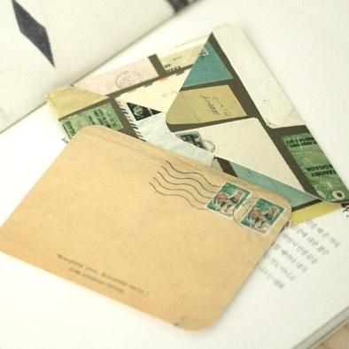"""アンティークデザインのカードセット!""""antique envelope & card(10セット)"""""""