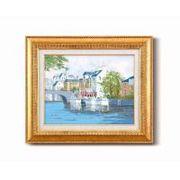 黒沢 久油絵額F6金 「運河の風景」 1110340