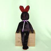 【ちょこんと座る脚長ウサギのぬいぐるみ】脚長ウサギのソフィー