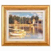 モネ名画額F6金 「アルジャントーユの橋」 1739640