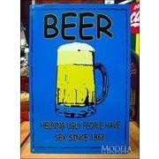 アメリカンブリキ看板 Beer ビールの助力