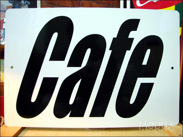 文字看板 Cafe/カフェ 黒(大サイズ)