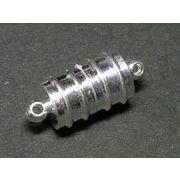マグネットクラスプ ライン 約18mm 古代銀 【10個セット販売】
