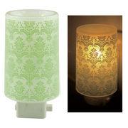 Plastic Aroma Concent Lamp PP アロマコンセントランプ アラベスク:グリーン◆室内照明
