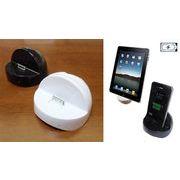 iPad/iPhone用クレードル 卓上充電器スタンド スタンド型充電器(30PinタイプDock)