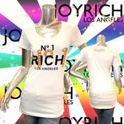 【JOYRICH】ジョイリッチ★No.1★チェーンロゴ★半袖Tシャツ ホワイト