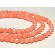 珊瑚(染色) 連販売 ピンク ラウンドカット AA 約3mm