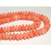 珊瑚(染色) 連販売 ピンク ボタン 約4.5×2mm
