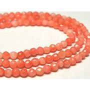 珊瑚(染色) 連販売 ピンク ラウンドカット 約3mm