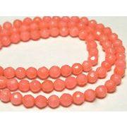 珊瑚(染色) 連販売 ピンク ラウンドカット AA 約4mm