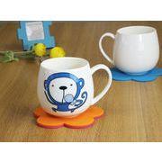 【強化】 マグカップ おしゃれ 440ml絵柄付丸いマグカップ 絵柄(十二支 猿)