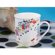 【強化】 マグカップ おしゃれ 290ml絵柄付円筒形マグカップ 絵柄(617-2)