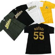 アスレチックスプリント ATHLETICS 背番号55番 松井秀喜Tシャツ