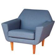 …blue/green stripe low lounge