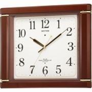 【新品取寄せ品】リズム時計製電波掛時計「ネムリーナM494R」4MN494RH06
