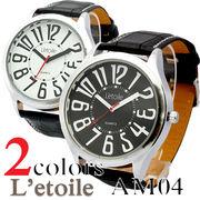 腕時計 メンズ L'etoile レトワール ビッグフェイス AM04