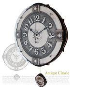 エンペラ掛け時計/インテリア 掛け時計/電波時計ーシルバー
