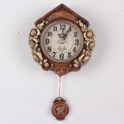 ティーニーローズ壁掛け振り子時計-ブラウン