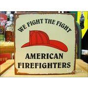 アメリカンブリキ看板 アメリカの消防士