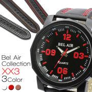 【Bel Air Collection 】★多角形ベゼル レッドインデックス メンズ 腕時計 XX3