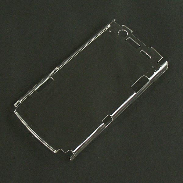 【N-05D/PC】ドコモ MEDIAS ES(メディアスエクストラスリム) クリア(透明色)ハードタイプPC素材