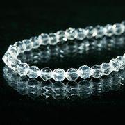 輝きが違う!ダイヤカット 5A級天然水晶ネックレス(φ6mm)ワンタッチ式