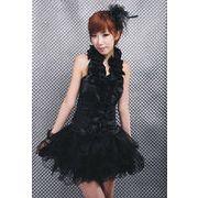 【即納】 グローブ付黒のゴスロリ コスチューム ハロウィン ドレス