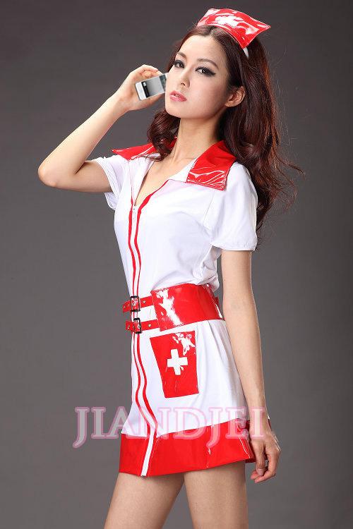 【即納】ベルト付ナース服 看護士コスプレ コスチューム ハロウィン