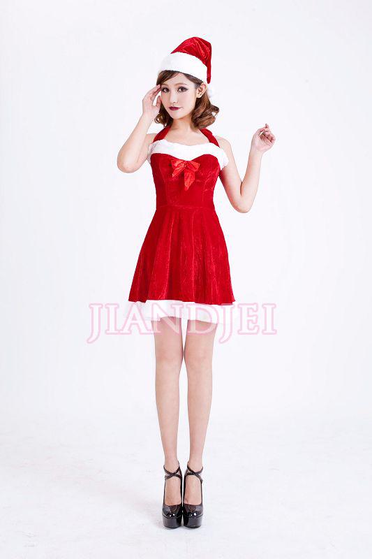 【即納】正面リボン付クリスマスコスプレ サンタ衣装 クリスマス XMASクリスマス衣装サンタコスプレ