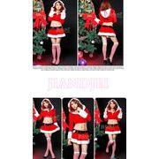 【即納】 X'mas前結びリボンのクリスマス衣装 サンタさんコスプレハロウィンクリスマスコスプレ