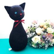 【ぬいぐるみにメッセージが書ける】メッセージトイ・ブラックキャット ≪ネコ≫