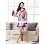 浴衣 着物ドレス 紫 和服コスプレ コスチューム 帯付き コスプレ 4014