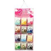 【ブレスレット】新ハート 12種類(各3本/計36個)&紙製什器&品切れ札セット販売