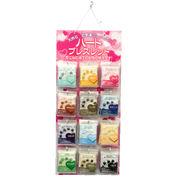 【ブレスレット】ハート 12種類(各3本、計36個)&紙製什器&品切れ札セット販売