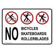 プラスティックサインボード CA-45 自転車、スケボー、ローラーブレード禁止