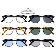 ★sunglasses&optical★  ブロー  ライトカラ―レンズ  プラスチックフレーム  サングラス【全6色】