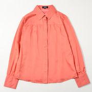 綿シルクブラウスシャツ/トップス/シャツ【最安値挑戦】
