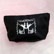 バレエ【ポーチ】黒色化粧品小物入れメイクペンケース