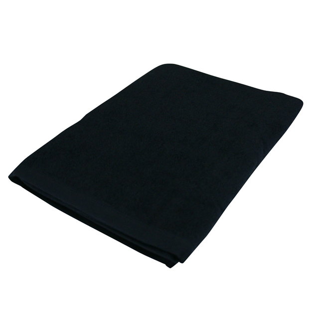 1000匁バスタオル:ブラック(全8色)【70x140cm】【無地】【業務用タオル】