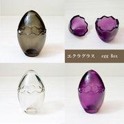 【SALE/値下げ】 モチーフが可愛らしい♪エクラガラス エッグボックス♪
