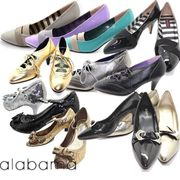 レディース 靴 PU&エナメル パンプス PA PU×ELASTIC/S-LEATHER PUMPS/PU RIBBON PUMPS
